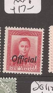 New Zealand KGVI Official SG O139 MNH (4axs)