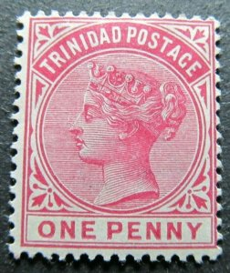 TRINIDAD AND TOBAGO 1883-94 WMK CA 1d CARMINE SG 107 MH* A4P39F45