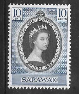 Sarawak 196: 10c Elizabeth II, MH, VF