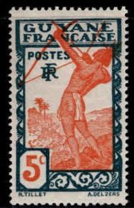 French Guiana Scott 113 MH* stamp expect similar centering