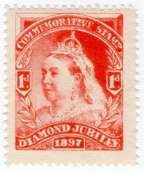 (I.B) QV Cinderella : Unofficial Diamond Jubilee Issue 1d (1897)