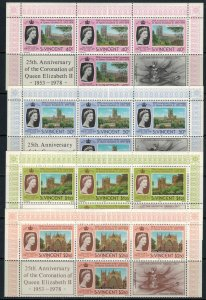 St. Vincent #528-31* NH Blocks of 4 with tabs  CV $4.00+