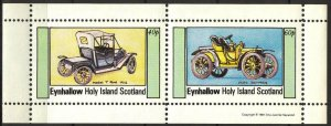 {E126} Eynhallow Scotland Classic Cars (2) Sh.2 MNH Cinderella !!