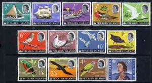 Pitcairn Islands 1964-65 QEII Birds & Ships definitiv...