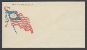 Civil War Patriotic unused cover - One God, One Country