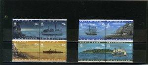 TRISTAN DA CUNHA 1997 SHIPS SET OF 8 STAMPS MNH