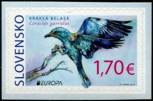 HERRICKSTAMP NEW ISSUES SLOVAKIA Sc.# 816 Europa 2019 Birds Self-Adhesive