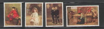 Jersey Sc 213-6 1979 IYC Millais Paintings stamps NH