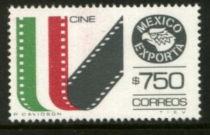 MEXICO Exporta 1586 $750P Movie Films Fluorescent Paper 10 Mint NH