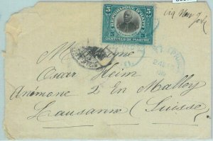 86077 - HAITI - POSTAL HISTORY -  Early  COVER  to SWITZERLAND 1954