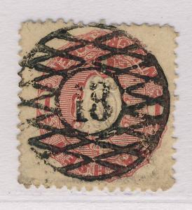 SAXONY / SACHSEN 1863/7 NUMERAL 18 GROSSENHAIN MiNr.16a 1Ngr LIGHT LILAC-RED