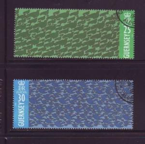 Guernsey Sc 551-2 1995 Europa stamps used