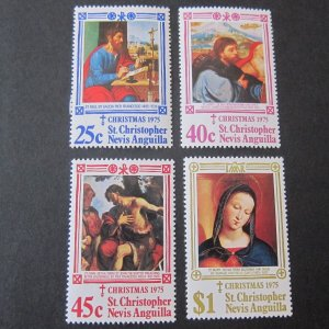 St. Kitts and Nevis 1975 Sc 312-5 Christmas Religion set MNH