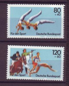 J25209 JLstamps 1983 germany set mnh #b609-10 sports