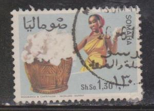 SOMALIA Scott # 330 Used - Woman With Basket Of Cotton Bolls