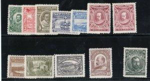 Newfoundland #87 - #97 (#92a) Very Fine Mint Lightly Hinged Set