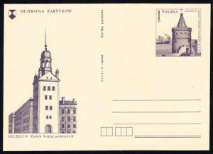 Poland Postal Card Ruch #CP 664 Szczecin Castle; Mint