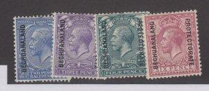 Bechuanaland KGV 1913 Part Set To 6d SG78/81 MH JK1640