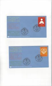 UN Geneva Persons with Disabilities 485-6 FDC Geneva Cachet