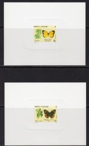New Caledonia 1991 Sc#658/661 Butterflies 4 Deluxe Souvenir Sheets Imperf.MNH