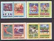St Lucia 1984 Olympics (Leaders of the World) set of 8 op...