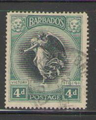 Barbados Sc 146 1920 4d Victory stamp used