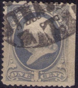 US Scott #156 Used Rare Fancy Cancellation F-VF