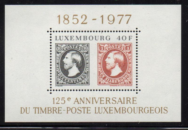 Luxembourg Sc 603 1977 125 years stamps stamp sheet mint NH