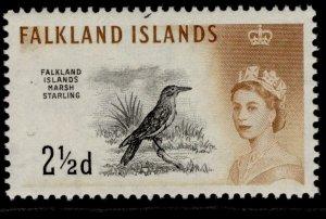 FALKLAND ISLANDS QEII SG196, 2½d black & yellow-brown, M MINT.