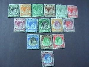 MALAYA/MALACCA # 3-17 -MINT/HINGED-COMPLETE SET------GEOVI------1949