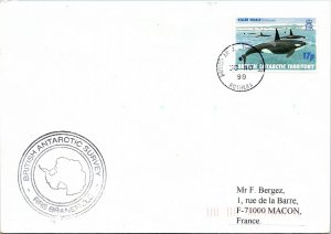 BRITISH ANTARCTIC TERRITORY ARCTIC ANTARCTIC POLAR CANCEL / CACHET #101