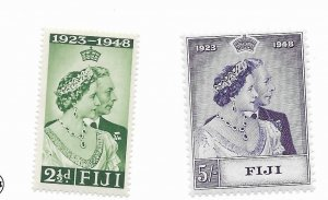 Fiji #139-140 MH - Stamp - CAT VALUE $18.20
