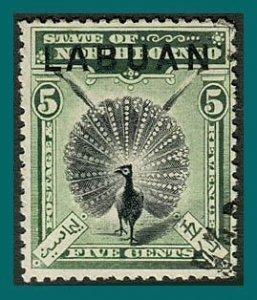 Labuan 1897 Pheasant, p 14, cancelled  #76,SG92