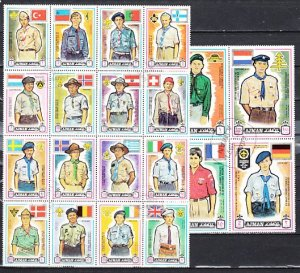 Ajman, Mi cat. 904-923 A. World Scout Jamboree issue. Mailed Folded. Used. ^