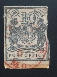 United  states of America US Stamp USA 1846 10c St Louis Postmasters Prov