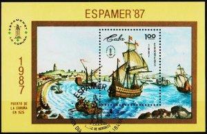 Cuba. 1987 Miniature Sheet. Fine Used