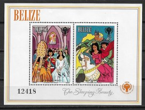 1980 Belize 521  Sleeping Beauty S/S MNH