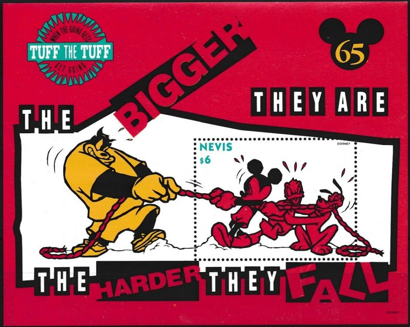 [I432] Nevis 1994 Walt Disney Mickey Mouse good sheet very fine MNH