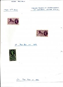 GREAT BRITAIN, QEII - 1960 - Gen. Letter Office-Mint & Used Sets- Lightly Hinged