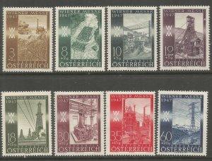 AUSTRIA  B199-B206  HINGED,  VIENNA INTERNATIONAL SAMPLE FAIR, 1947