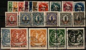 Germany 1920 Overprint Bavaria Michel 119-138 Post-WWI Abscheidserie 93088