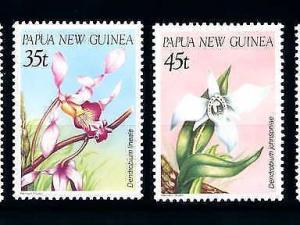 [79895] Papua New Guinea 1986 Flora Flowers Blumen Orchids  MNH
