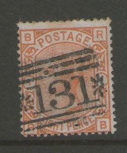 GB 1876 Queen Victoria SG 156 PL1 FU