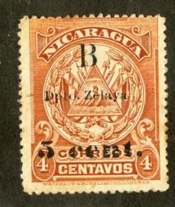 NICARAGUA 1L46 USED SCV $12.00 BIN $4.50 FLAGS