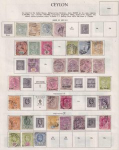 CEYLON  INTERESTING COLLECTION REMOVED FROM ALBUM PAGES - Y759