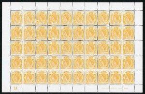 Cayman Is 1974 Revenue 4 Dollar SHEET of 50 U/M Each PAIR Embossed WSP/SPECIMEN