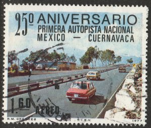 MEXICO C544 25th Anniversary of 1st National SuperHighway USED VF. (824)