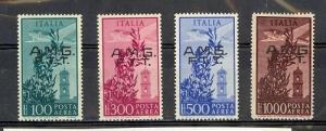 Trieste Zone A - Scott C13-C16 Mint Hinged (Catalog Value $457.00)