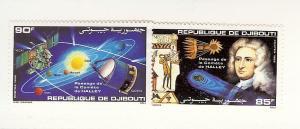 Djibouti, 610-11, Halley's Comet, Singles, MNH