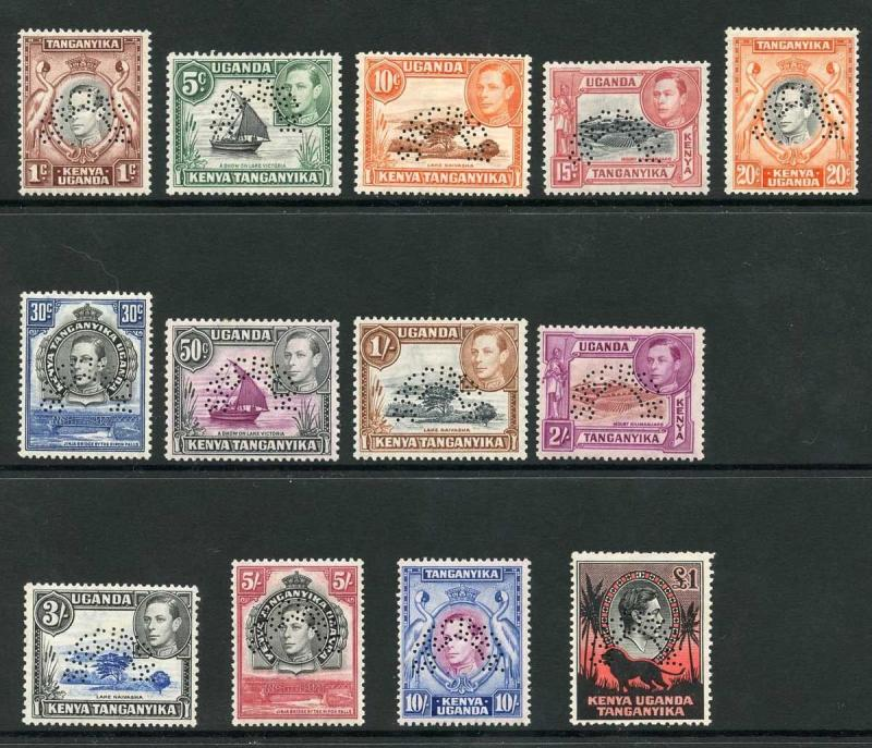 KUT KGVI SG131s/50s Set of 13 opt SPECIMEN M/Mint